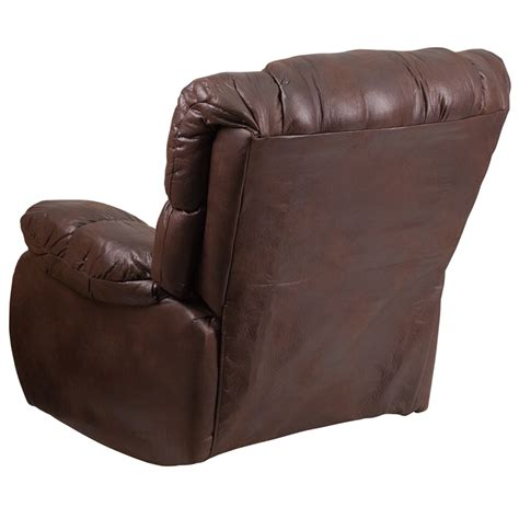 fabric rocker recliner contemporary breathable comfort padre espresso fabric