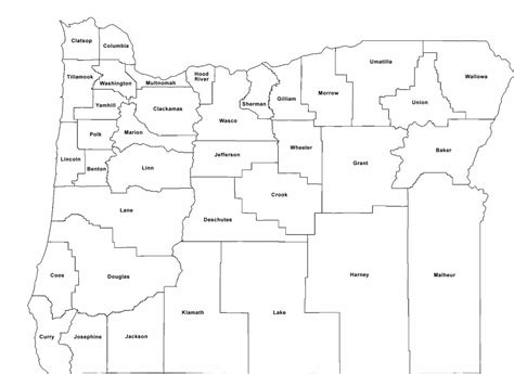 oregon map of counties blank oregon county map labeled free