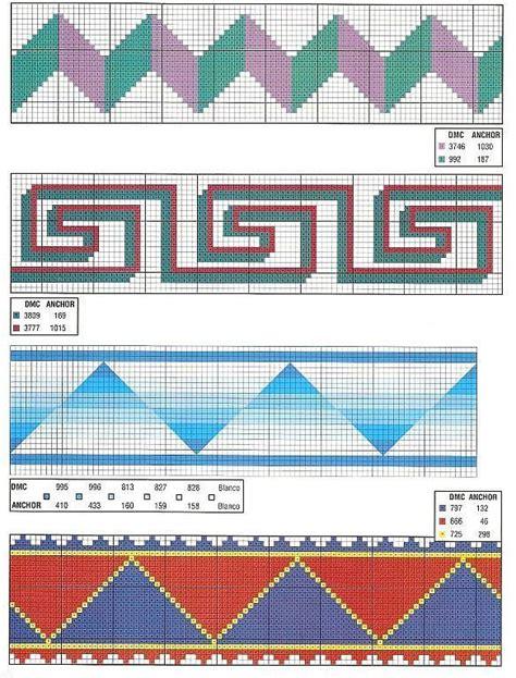 cenefas geometricas punto de cruz caballos abecedarios punto de cruz graficos gratis y mucho
