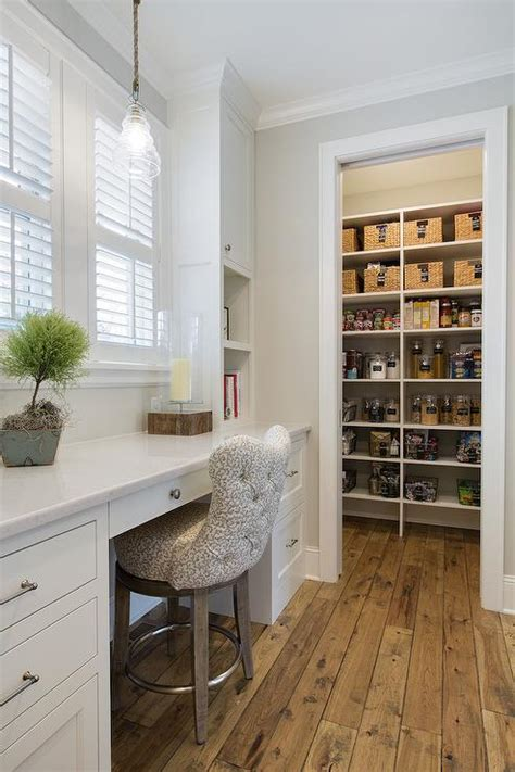 kitchen pantry  built  desk cottage kitchen