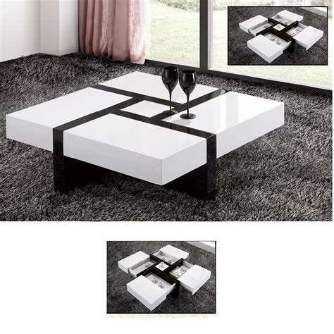 extendable high gloss coffee table interior design ideas