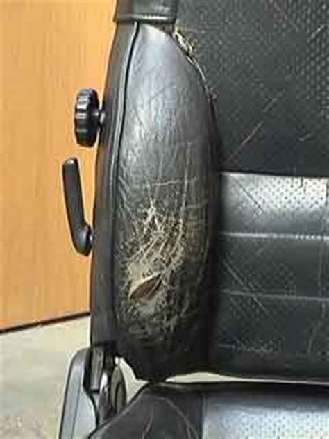 car leather restoration how to fix a in a leather car seat