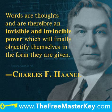 Charles F. Haanel Shareable Quote Image Gallery   The