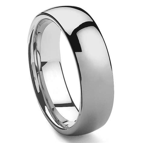 hamon tungsten carbide s plain dome wedding band