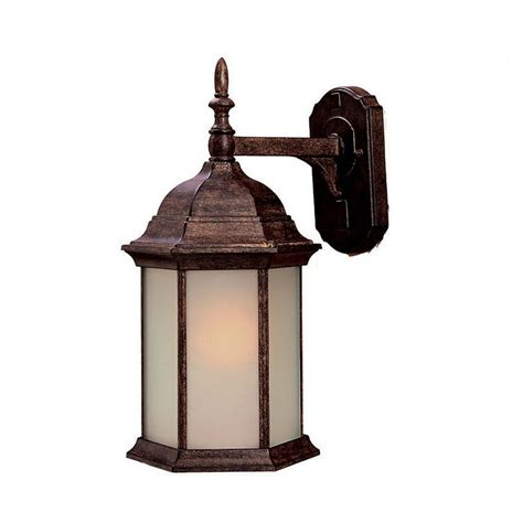 Craftsman Outdoor Light Shop Acclaim Lighting Craftsman 16 5 In H Black Coral Outdoor Wall Light At Lowes