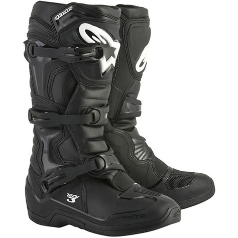 alpinestar tech 3 motocross boots alpinestars 2018 tech 3 black boots at mxstore