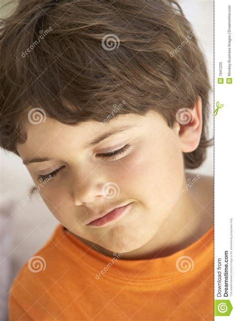 boy sulking portrait of young boy sulking stock photos image 7941233