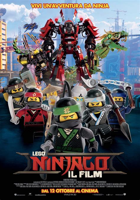 ninjago film poster del film the lego ninjago movie screenweek