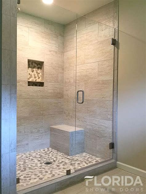 Best Shower Door 3 8 Inline Glass Shower Door And Panel Frameless With Cls Frameless Shower Doors