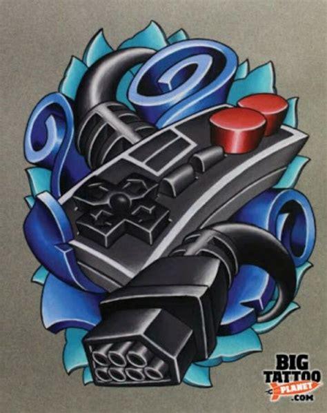 nintendo controller tattoo nintendo controller nes tattoos ideas