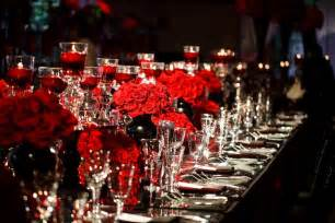 Red Black And White Wedding Red White And Black Elegance Transformed The Pelican Ballroom Into A