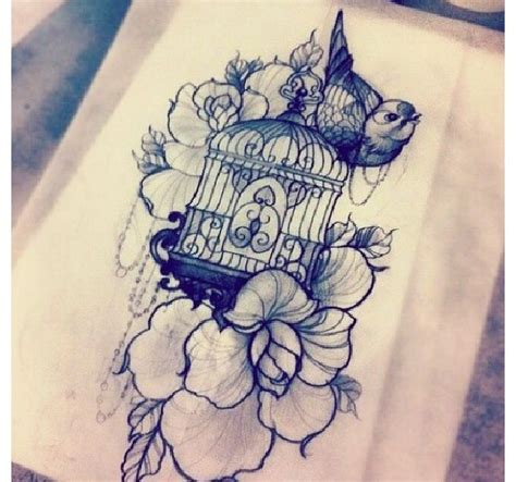 bird cage tattoo designs 1000 ideas about bird cage tattoos on cage