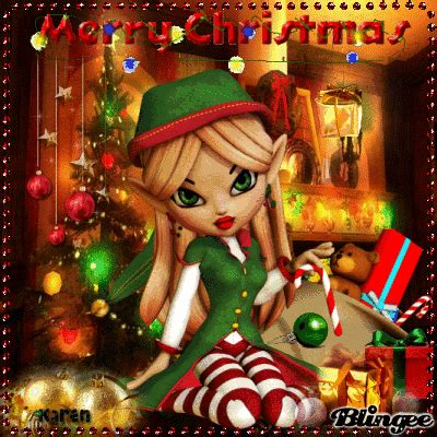 christmas elf fairy picture  blingeecom
