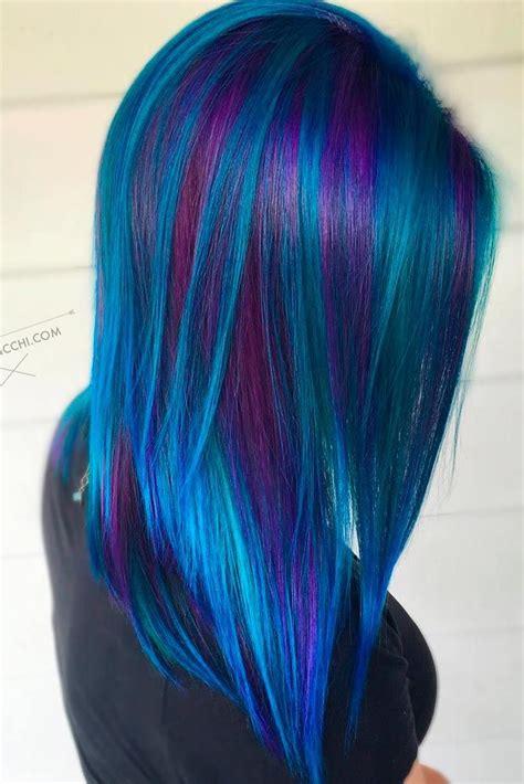 purple blue color 42 fabulous purple and blue hair styles rainbow hair