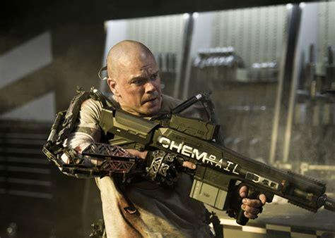 matt damon elysium chem rail gun and exoskeletons in quot elysium quot popular airsoft