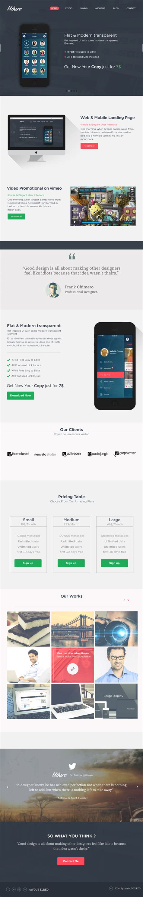 12 amazing responsive one page website templates for your brand