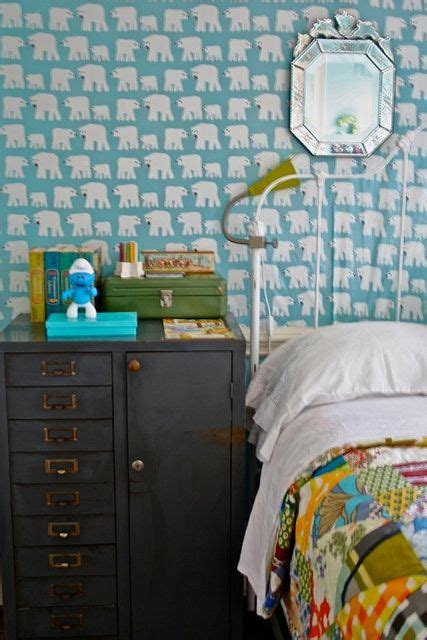 tomboy bedroom love the polar bear wallpaper kids space pinterest