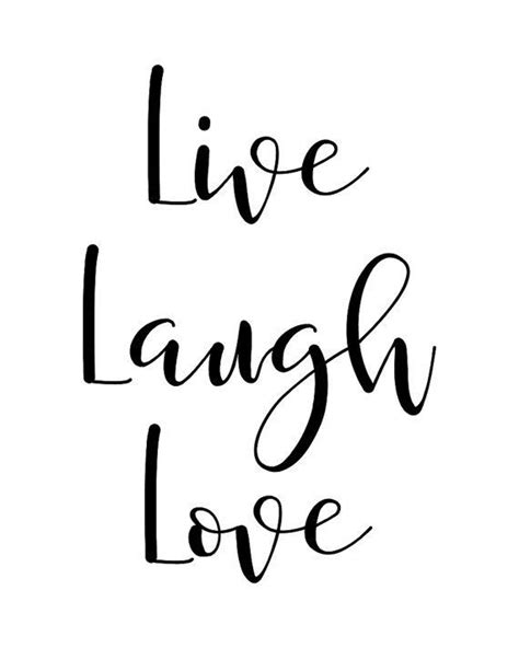 printable wall art quote  laugh love typography poster motivational inspirational