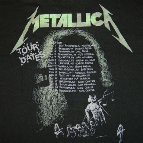 Tshirt Vintage All 88 vintage metallica 1988 89 tour t shirt concert pushead 80s
