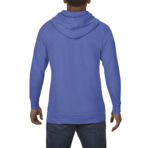 comfort colors flo blue cc1567 comfort colors adult hoodie flo blue gildan