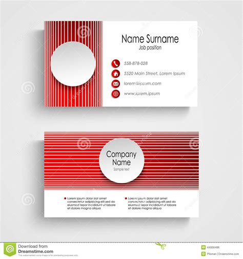 business card template eps modern business card template stock vector