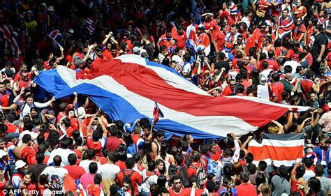 costa rica fans create sea of red as they party in the