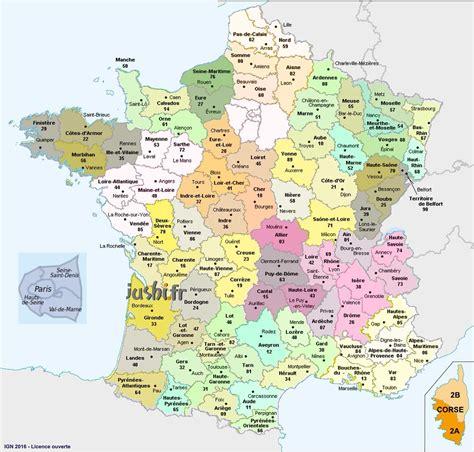 carte de france  departement  villes imprimer demat