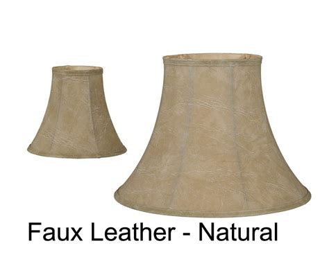 faux l shades faux leather deluxe bell 07165l b p l supply
