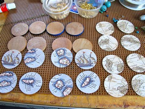 decoupage earrings tutorial blukatkraft decoupage map earrings diy jewelry tutorial