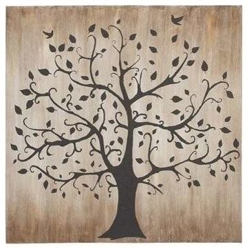 Tree Silhouette Wall Stickers tree themed classy canvas wall art transitional