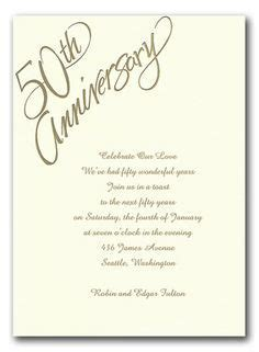 Free 50th Wedding Anniversary Invitations Templates   Mom
