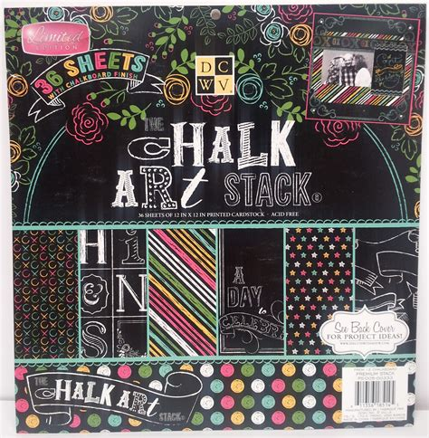 Chalkboard Craft Paper - dcwv paper pack collection favecrafts
