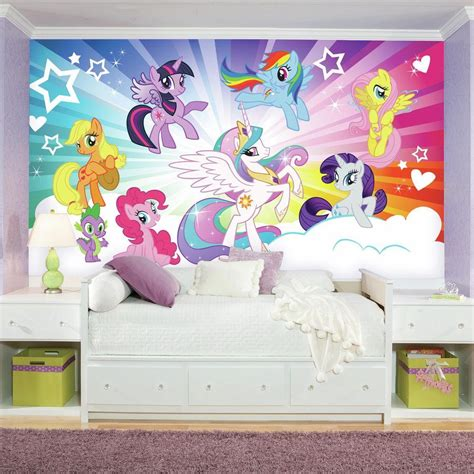 my little pony bedroom wallpaper roommates 72 in x 126 in my little pony cloud xl chair