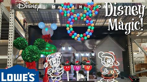lowes home store christmas decorations shop with me lowes decorations disney 2017