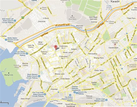 where is karachi on the world map karachi maps with streets images
