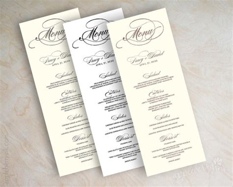42 sle menu cards sle templates