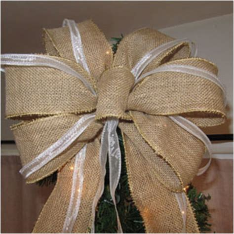 how to make a burlap bow tree topper best of etsy tree toppers