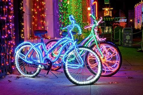 burning bike lights atlanta streets alive parade great atlanta bicycle