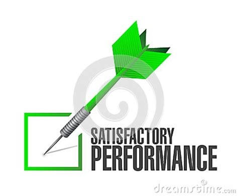 Satisfactory Background Check Satisfactory Performance Check Dart Illustration Stock Illustration Image 49528362