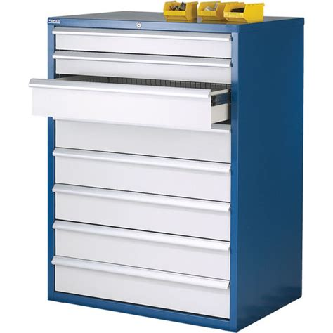 euroslide 8 drawer storage cabinet 1200mm high ese direct