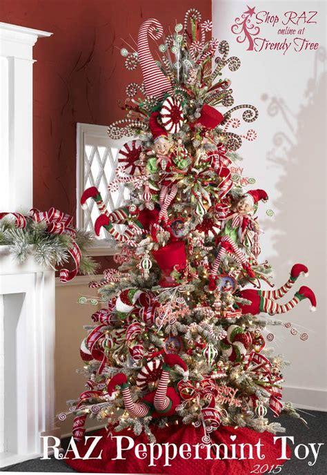 Marvelous Slim Christmas Trees For Sale #7: Raz-2015-peppermint-toy-tree-trendytree.jpg