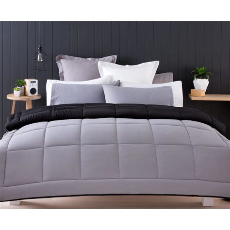 single comforter reversible comforter set single bed black kmart