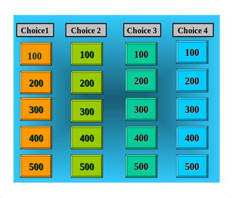 Jeopardy Maker Free Jeopardy Template For Teachers 10 Free Free Jeopardy Template For Teachers