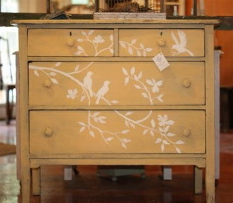 Furniture Stencils by Painted Or Stencil Furniture Ideas Just B Cause