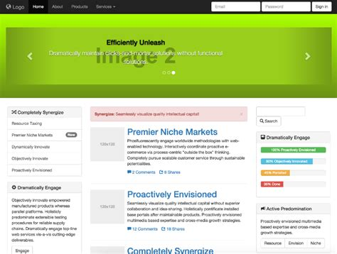 bootstrap themes portal portal website templates