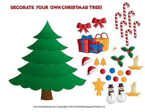 decorate your own christmas tree worksheet printable tree clipart clipart suggest