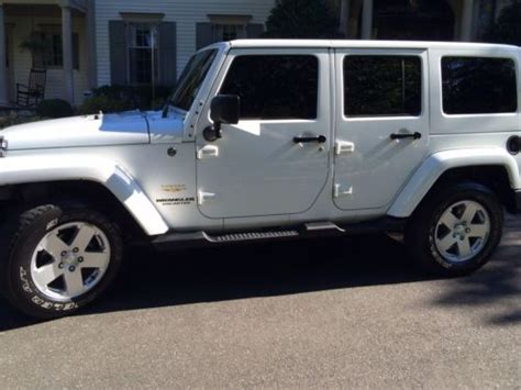 jeep wrangler white 4 door buy used white jeep wrangler unlimited 4 door 4