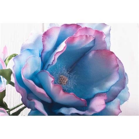 Silk Fabric Flowers Handmade - handmade silk fabric flower turquoise brooch