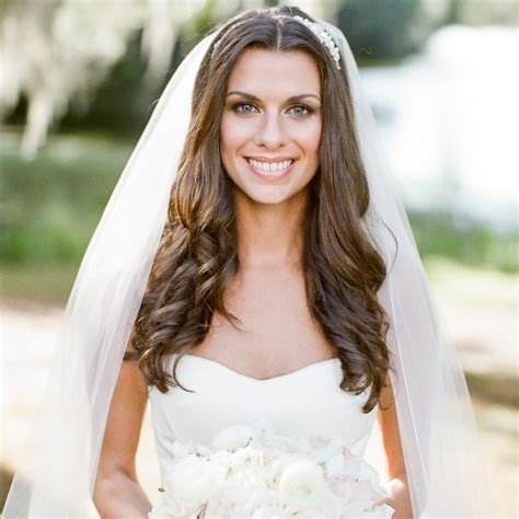 bridal hairstyles down with veil gorgeous wedding veils with hair down sang maestro