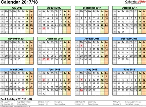 Calendar December 2017 To June 2018 Split Year Calendars 2017 18 July To June For Word Uk